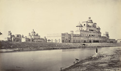 The Chattar Manzil Palace from the river, Lucknow